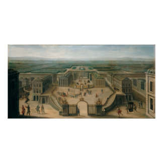 View of Versailles from the Place d'Armes Poster