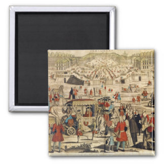 View of Versailles 2 Inch Square Magnet