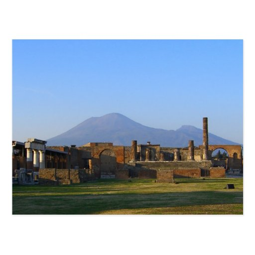 View Of Vesuvius Over The Ruins Of Pompeii Postcard