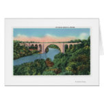 View of Veterans Memorial Bridge Greeting Card