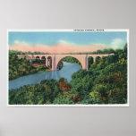 View of Veterans Memorial Bridge Poster