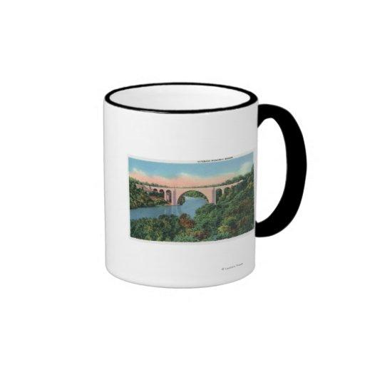 View of Veterans Memorial Bridge Ringer Coffee Mug