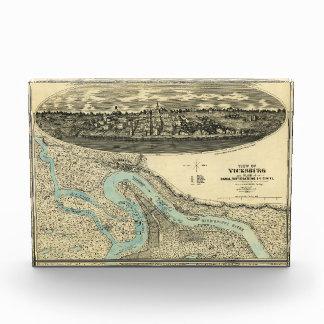 View of Vicksburg Mississippi Map (1863) Award