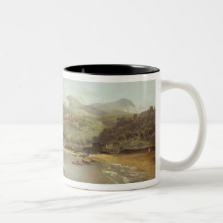 View of Vico Estense from Sorrento looking towards Two-Tone Coffee Mug