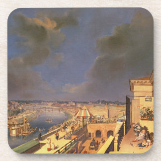View of Vienna, 1819 (oil on canvas) Coaster