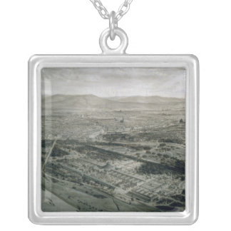 View of Vienna at the time of the World Silver Plated Necklace