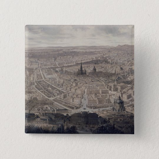 View of Vienna, c.1860 Pinback Button