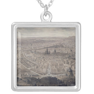 View of Vienna, c.1860 Silver Plated Necklace