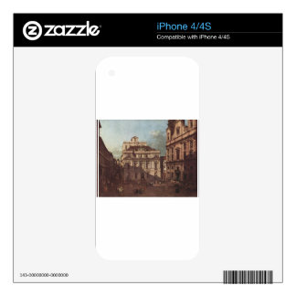 View of Vienna, square in front of the university iPhone 4 Skins