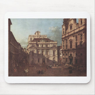 View of Vienna, square in front of the university Mouse Pad