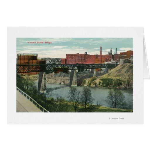 View of Vincent Street Bridge Greeting Card