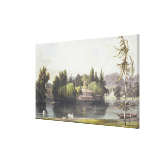 View of Virginia Water with Garden Temples, from ' Canvas Print