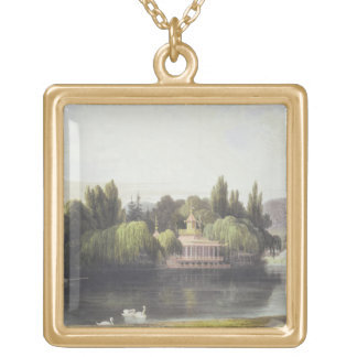 View of Virginia Water with Garden Temples, from ' Gold Plated Necklace