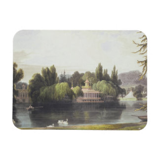 View of Virginia Water with Garden Temples, from ' Magnet