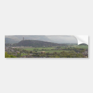 View of Wallace Monument in Scotland Bumper Sticker