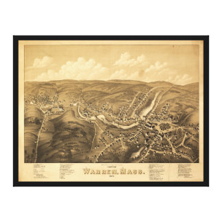 View of Warren Massachusetts (1879) Canvas Prints
