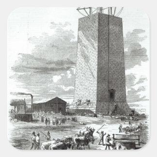 View of Washington Monument Square Sticker