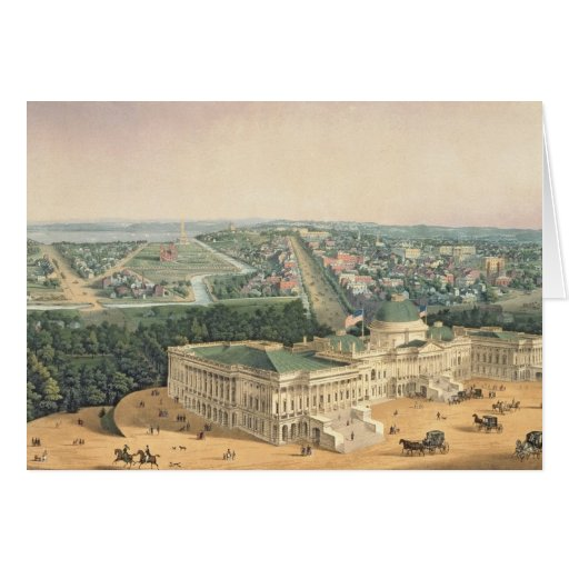 View of Washington, pub. by E. Sachse & Co., 1852 Greeting Card