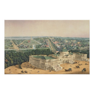 View of Washington, pub. by E. Sachse & Co., 1852 Poster