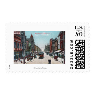 View of Washington Street with Cable Cars Postage