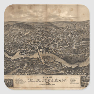 View of Watertown Massachusetts in 1879 Square Sticker