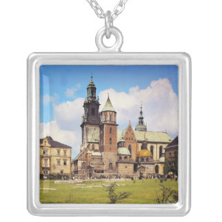 View of Wawel Cathedral Silver Plated Necklace