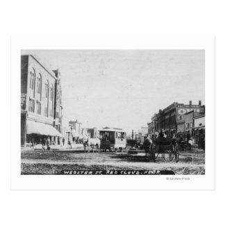 View of Webster Street Postcard