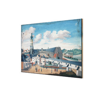 View of Weimar with the Castle of Wilhelmsburg Canvas Print