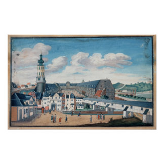View of Weimar with the Castle of Wilhelmsburg Poster