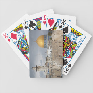 View of Western Wall Plaza, late afternoon 2 Bicycle Playing Cards