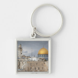 View of Western Wall Plaza, late afternoon 2 Keychain