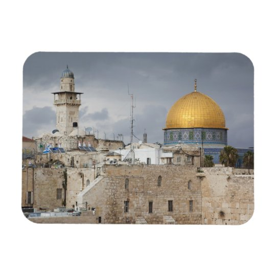 View of Western Wall Plaza, late afternoon 2 Magnet
