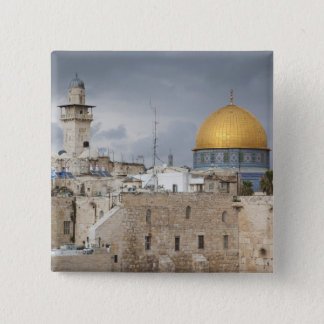 View of Western Wall Plaza, late afternoon 2 Pinback Button