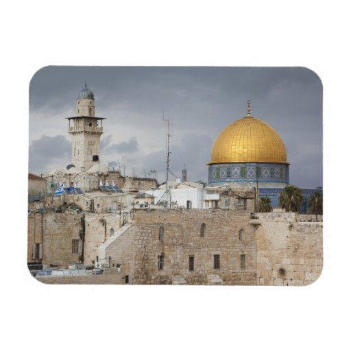 View of Western Wall Plaza, late afternoon 2 Rectangular Magnets