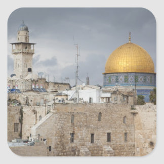 View of Western Wall Plaza, late afternoon 2 Square Sticker