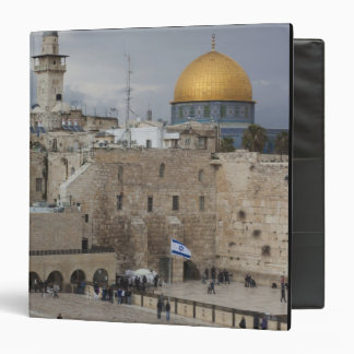 View of Western Wall Plaza, late afternoon 3 Ring Binder