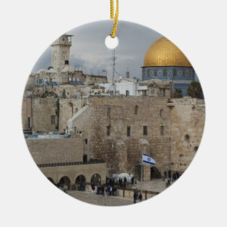 View of Western Wall Plaza, late afternoon Ceramic Ornament