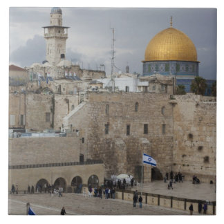 View of Western Wall Plaza, late afternoon Ceramic Tile