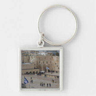 View of Western Wall Plaza, late afternoon Keychain