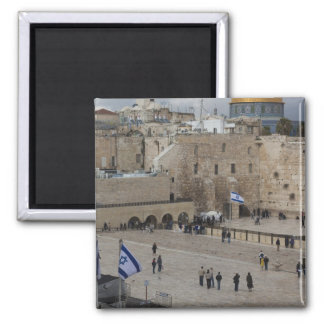 View of Western Wall Plaza, late afternoon Magnet