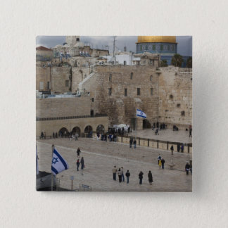 View of Western Wall Plaza, late afternoon Pinback Button