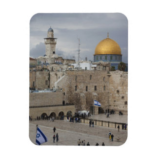 View of Western Wall Plaza, late afternoon Rectangular Photo Magnet