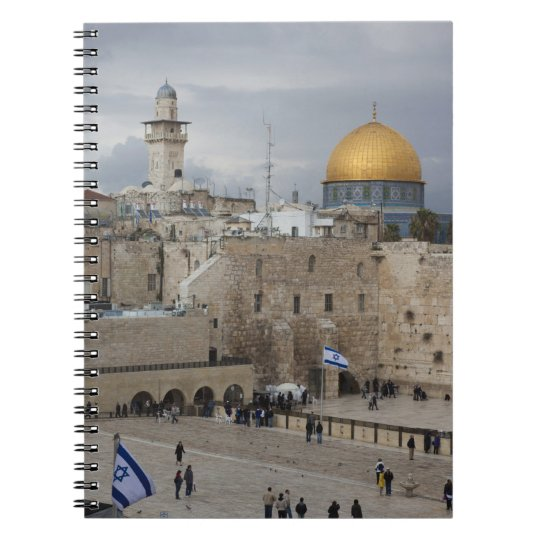 View of Western Wall Plaza, late afternoon Spiral Notebook