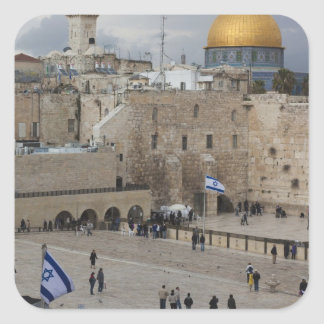 View of Western Wall Plaza, late afternoon Square Sticker