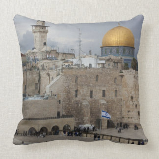View of Western Wall Plaza, late afternoon Throw Pillow