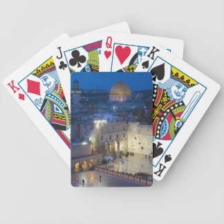 View of Western Wall Plaza, late evening Bicycle Playing Cards