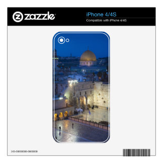 View of Western Wall Plaza, late evening iPhone 4S Skin
