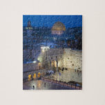 """View of Western Wall Plaza, late evening Jigsaw Puzzle<br><div class=""""desc"""">Walter Bibikow\\COPYRIGHT Walter Bibikow / DanitaDelimont.com 