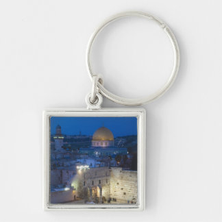 View of Western Wall Plaza, late evening Keychain