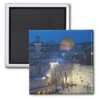 View of Western Wall Plaza, late evening Fridge Magnets